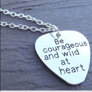 Stamped Graphic Wild at Heart Necklace